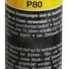 Pyrorauch P80 gelb, Reißzündung (SMK-P80-YEL)