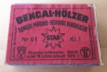 Bengal-Hölzer, rot (Marke STAR)