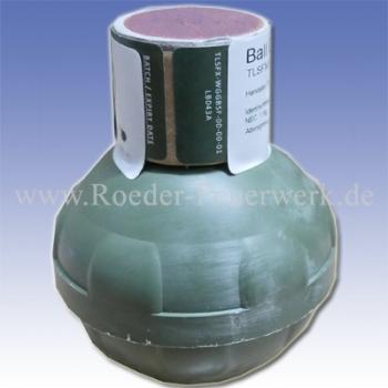 Ball Grenade (mit orangenem Farbpulver als Füllung)
