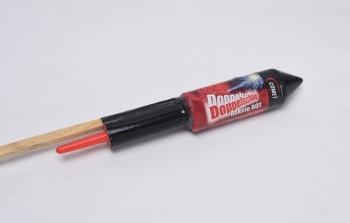 Doppelschlag Rakete rot