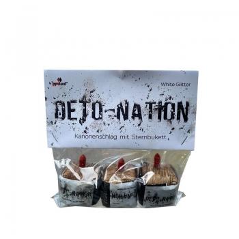 Deto-Nation White Glitter