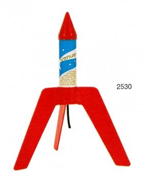 Venus-Rakete [mit Leitflügeln]