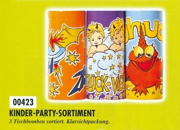 Kinder-Party (3er-Sortiment Tischbomben)