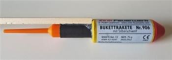 Bukettrakete 906 Rote Blinker mit Silberschweif