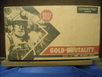 """1.2"""" Brutal Gold Showbox"""