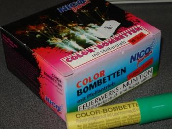 Color-Bombette mit Pfeifantrieb